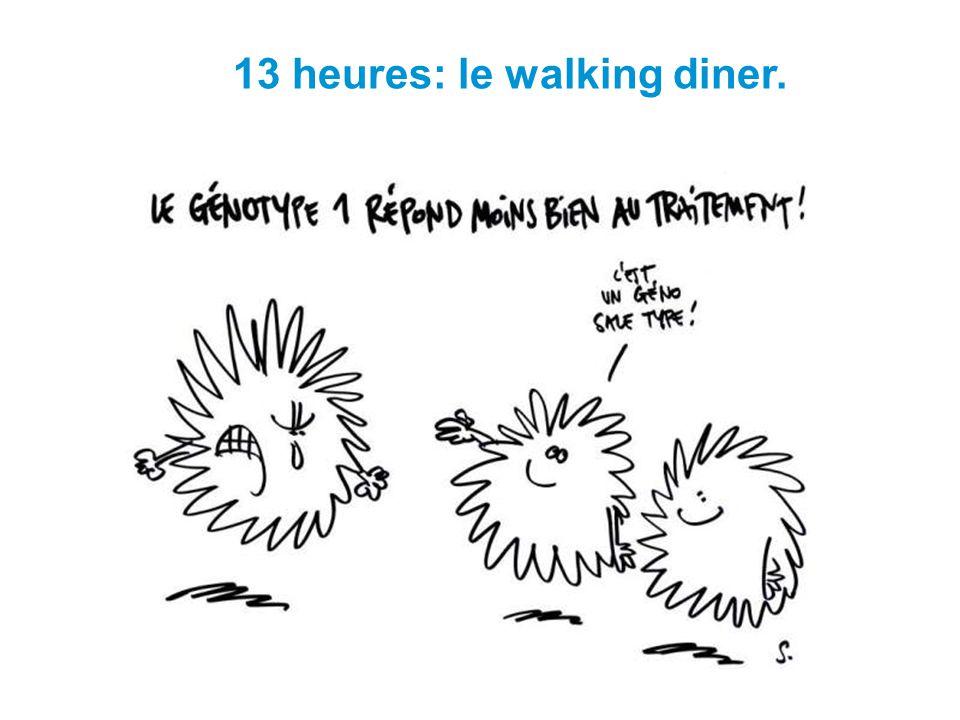 13 heures: le walking diner.