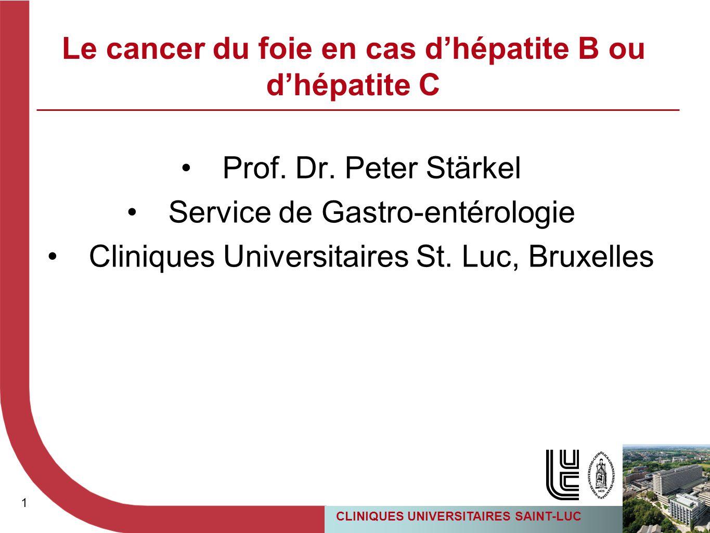 Le cancer du foie en cas d'hépatite B ou d'hépatite C
