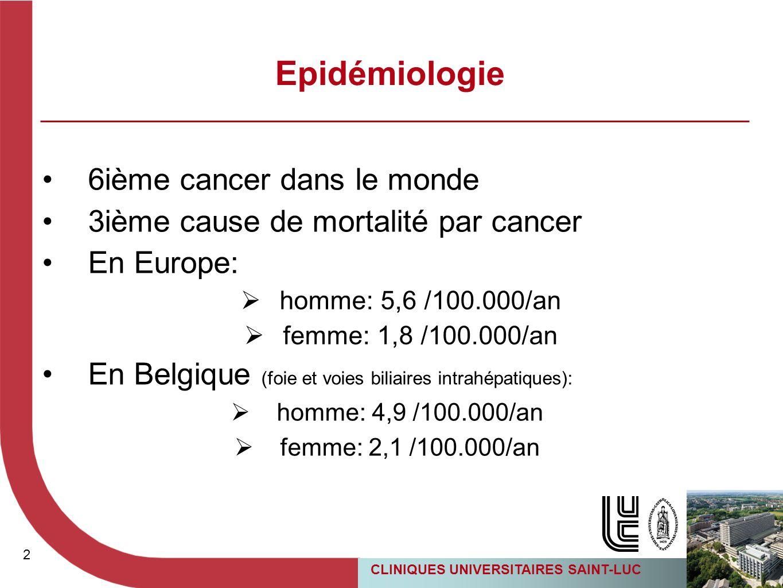Epidémiologie 6ième cancer dans le monde