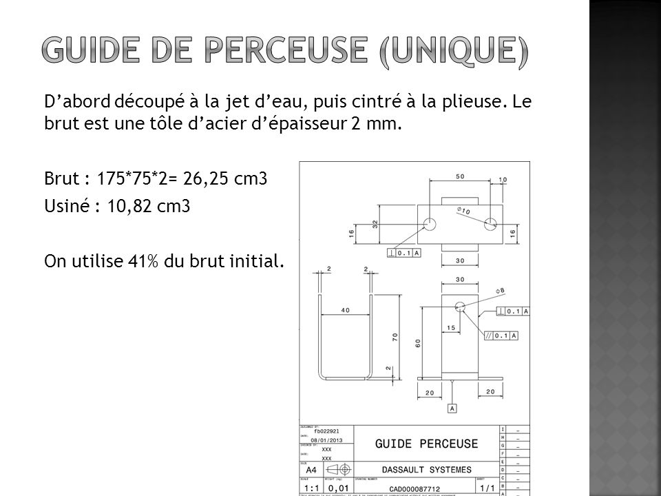 Guide de perceuse (unique)