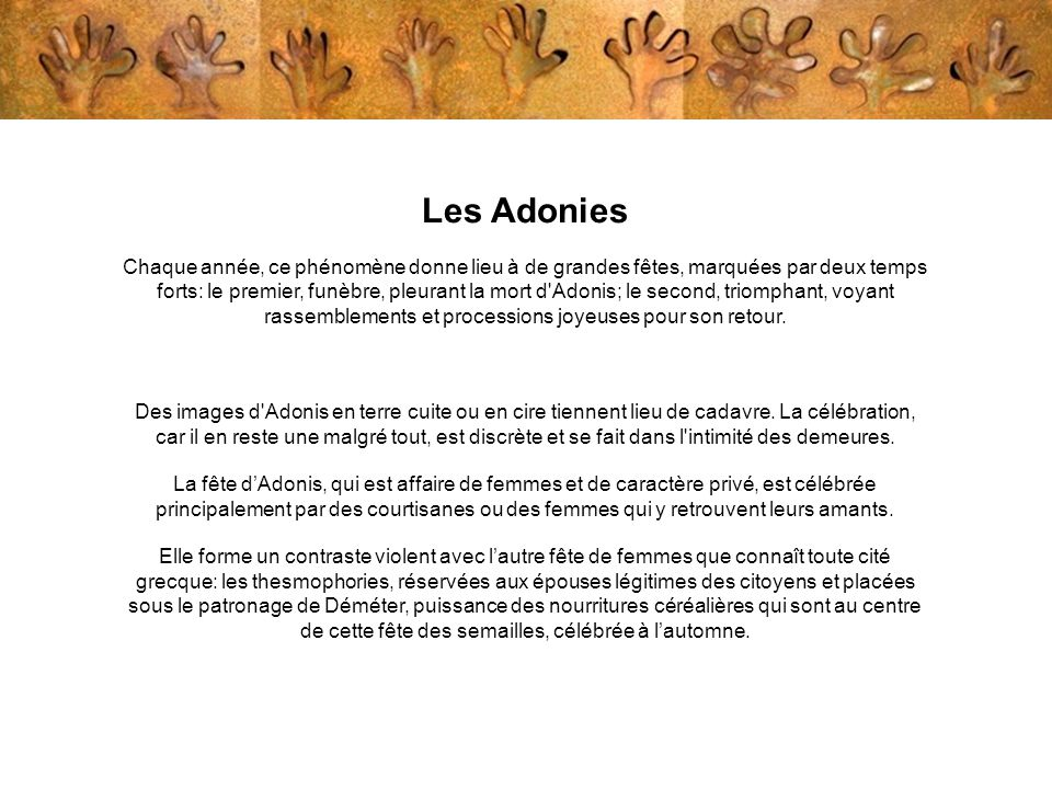Les Adonies