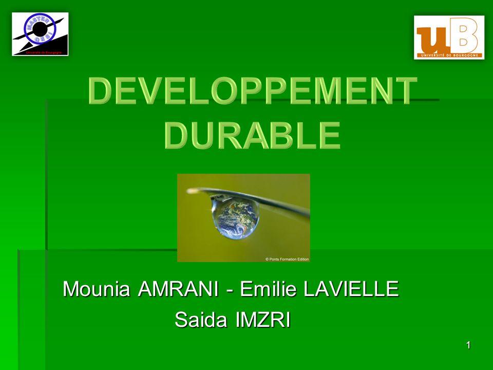 D Mounia AMRANI - Emilie LAVIELLE Saida IMZRI