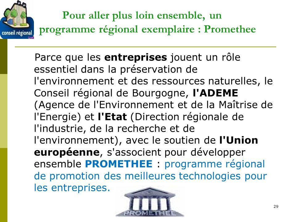 D Pour aller plus loin ensemble, un programme régional exemplaire : Promethee.