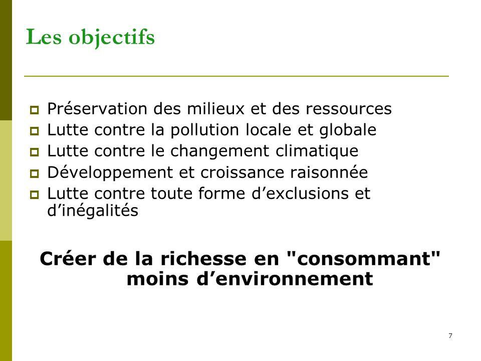 Créer de la richesse en consommant moins d'environnement
