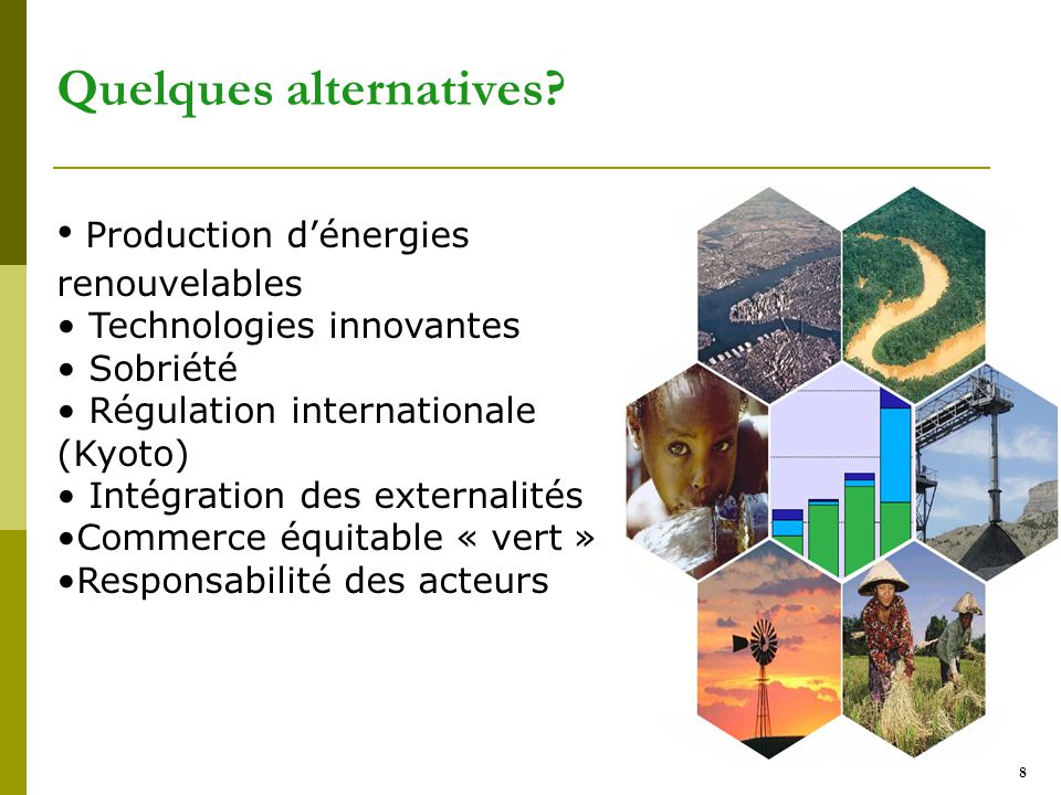 Quelques alternatives