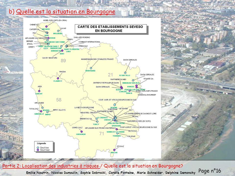 b) Quelle est la situation en Bourgogne