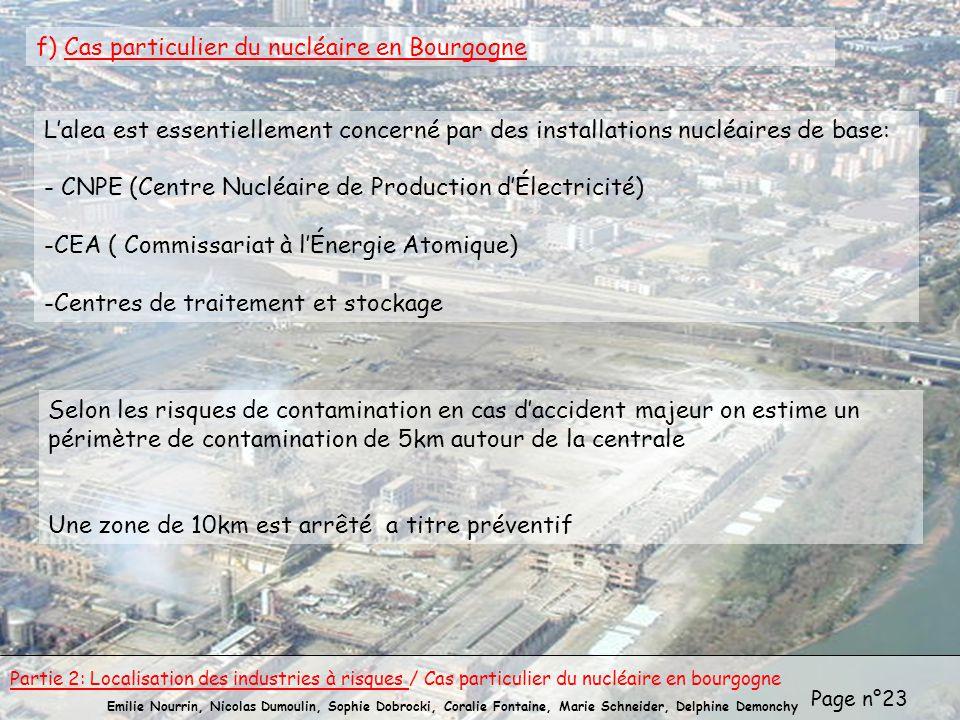 f) Cas particulier du nucléaire en Bourgogne