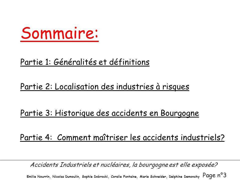 Sommaire: Partie 1: Généralités et définitions