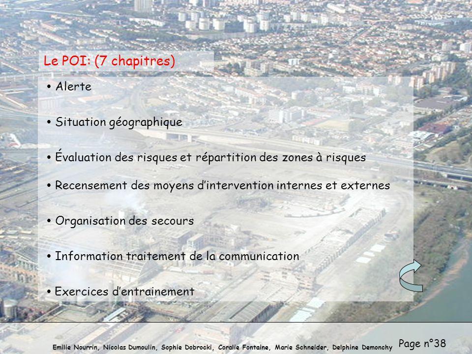 Le POI: (7 chapitres)  Alerte  Situation géographique