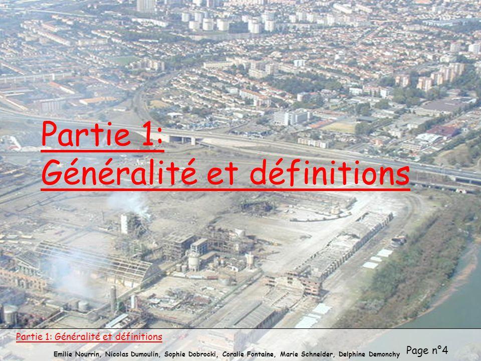 Partie 1: Généralité et définitions