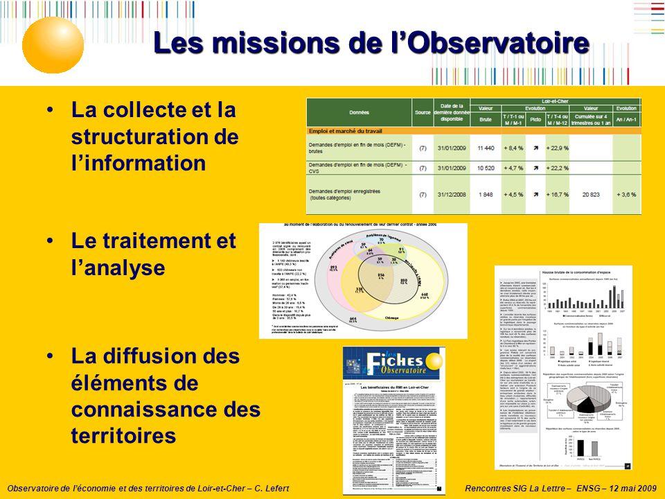 Les missions de l'Observatoire