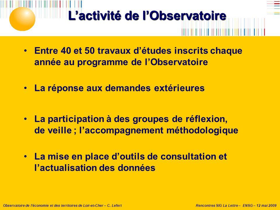 L'activité de l'Observatoire