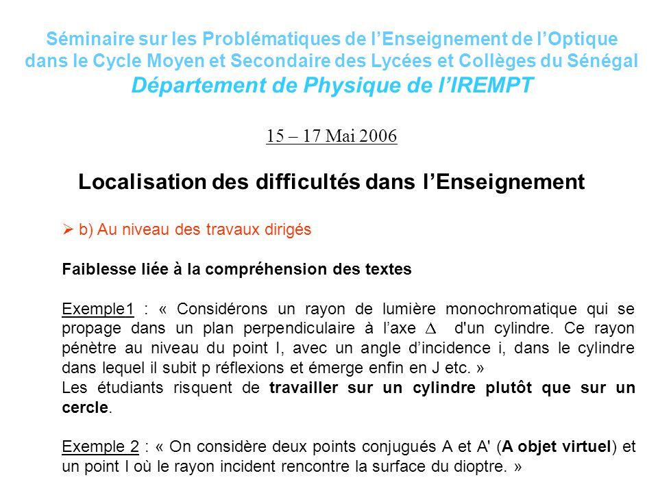 Département de Physique de l'IREMPT
