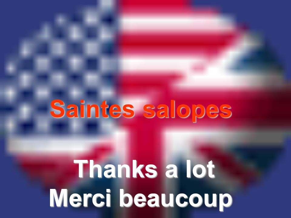 Saintes salopes Thanks a lot Merci beaucoup