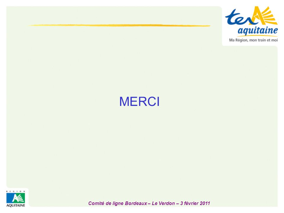 Comité de ligne Bordeaux – Le Verdon – 3 février 2011
