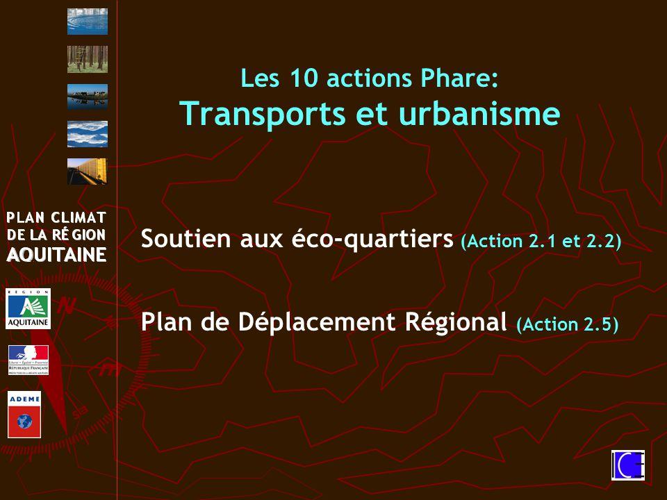 Les 10 actions Phare: Transports et urbanisme