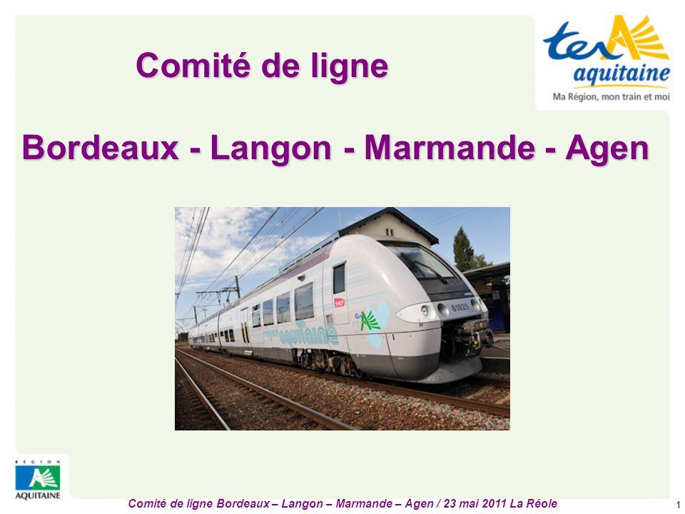 Comité de ligne Bordeaux - Langon - Marmande - Agen