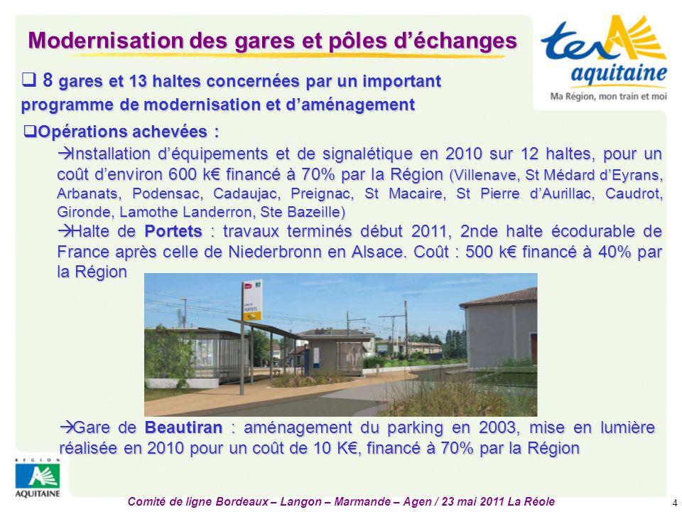 Modernisation des gares et pôles d'échanges