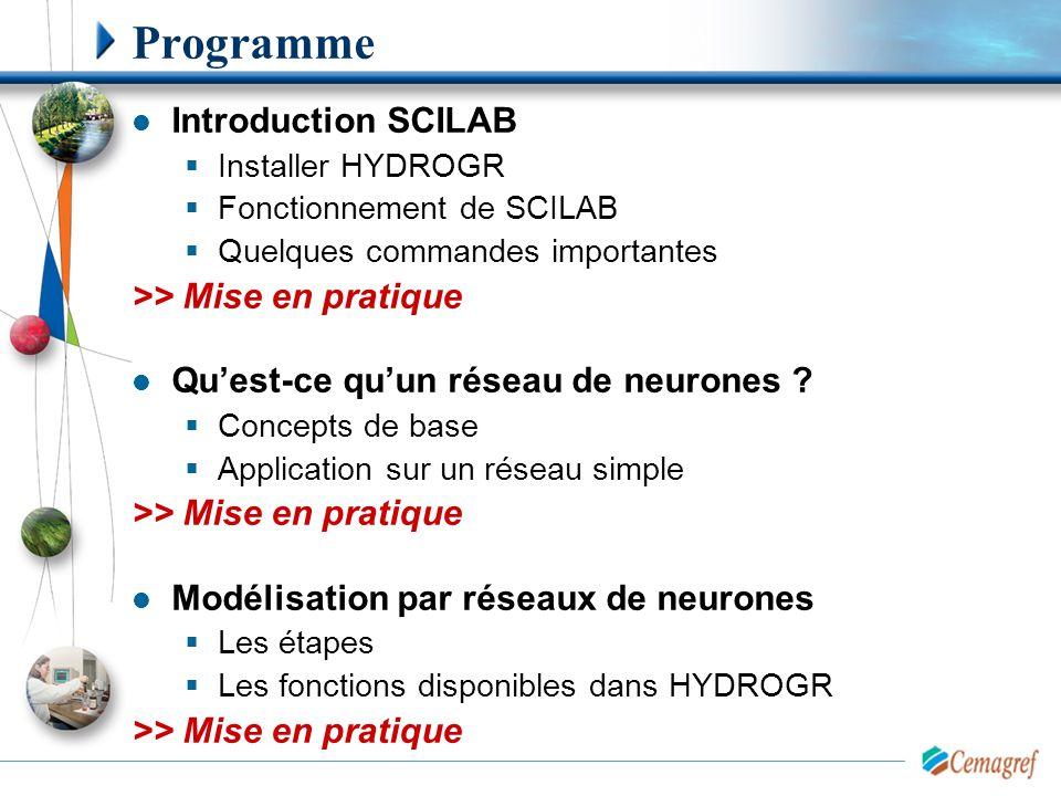 Programme Introduction SCILAB >> Mise en pratique