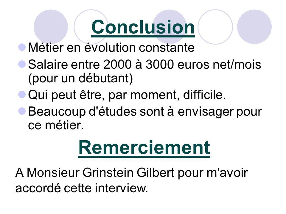 Conclusion Remerciement