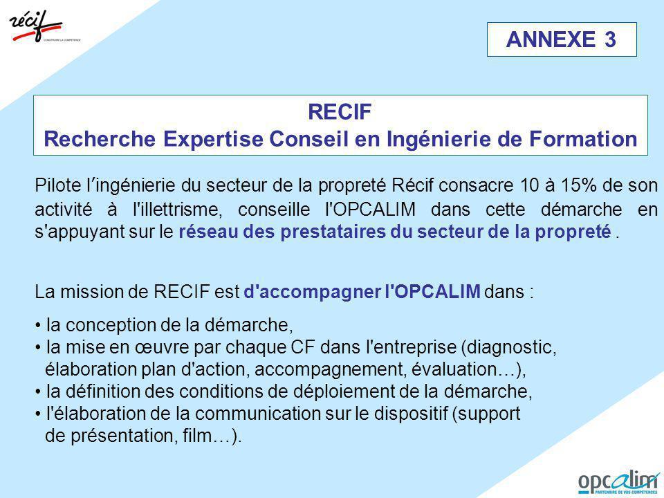 RECIF Recherche Expertise Conseil en Ingénierie de Formation