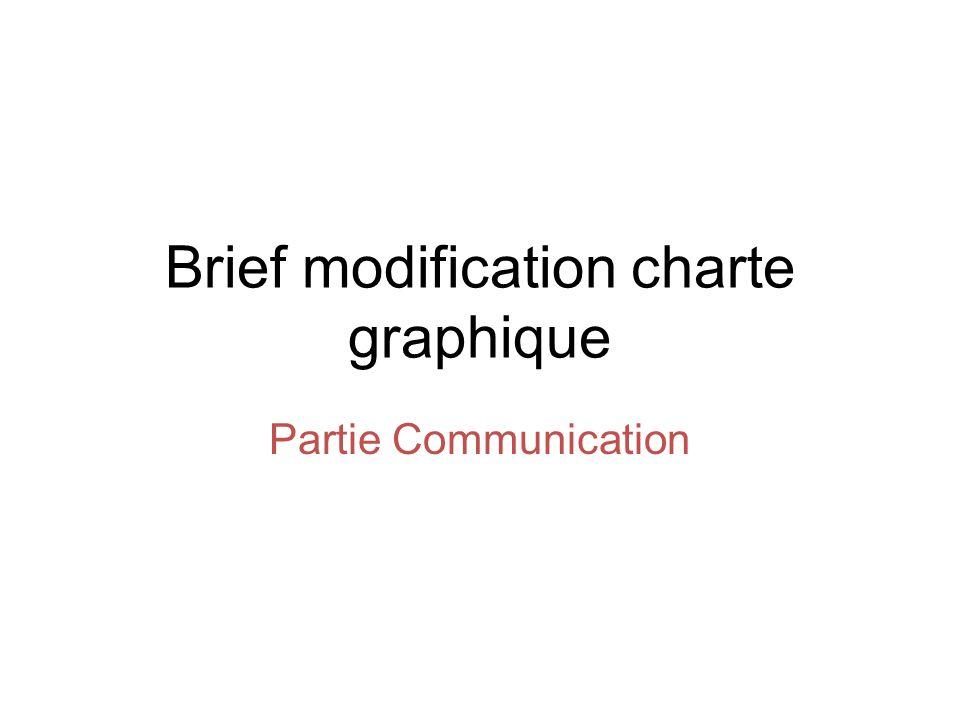 Brief modification charte graphique