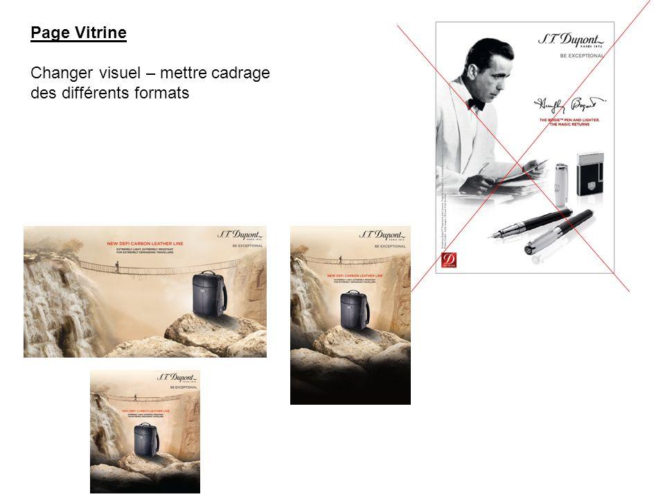 Page Vitrine Changer visuel – mettre cadrage des différents formats