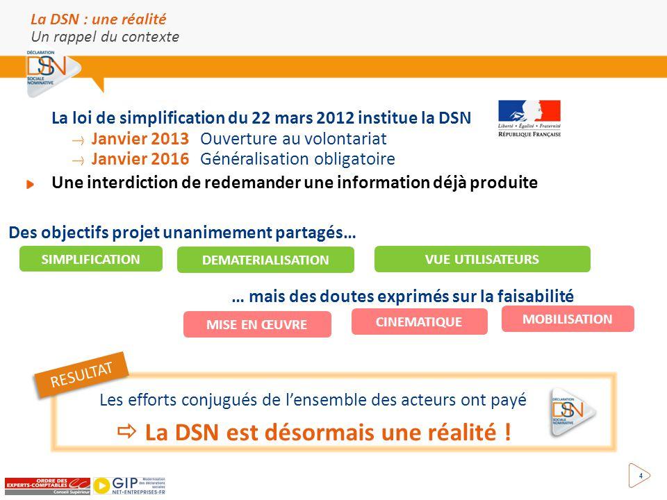  La DSN est désormais une réalité !