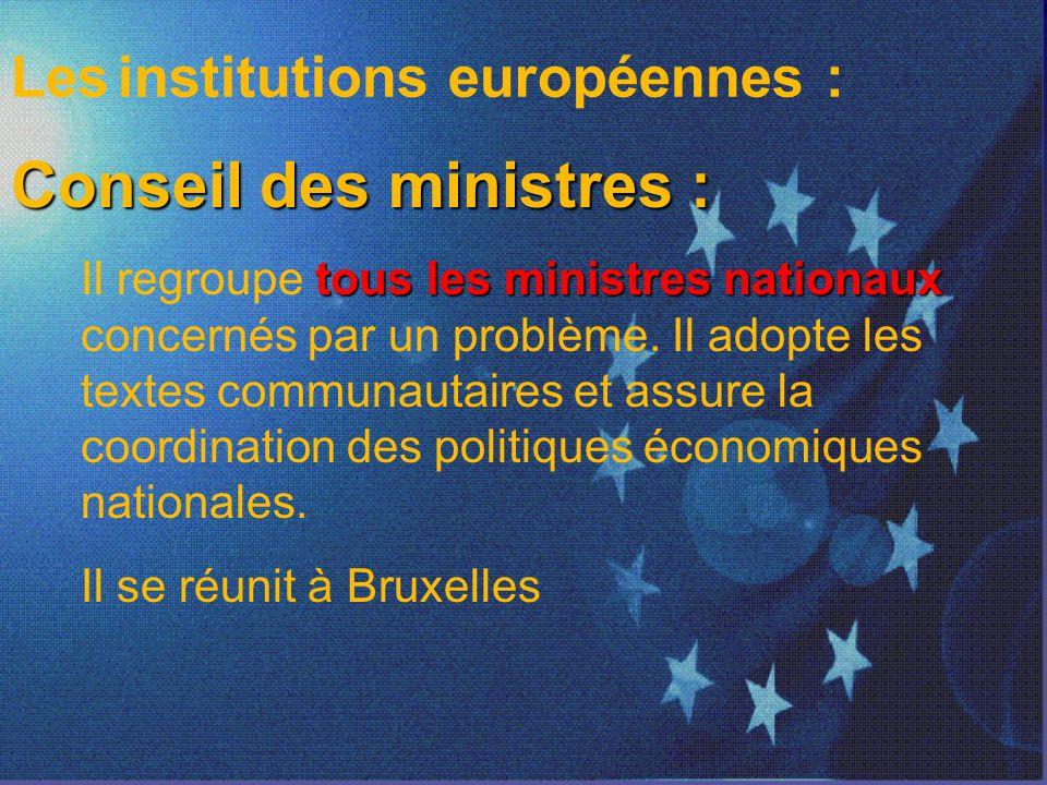 Conseil des ministres :