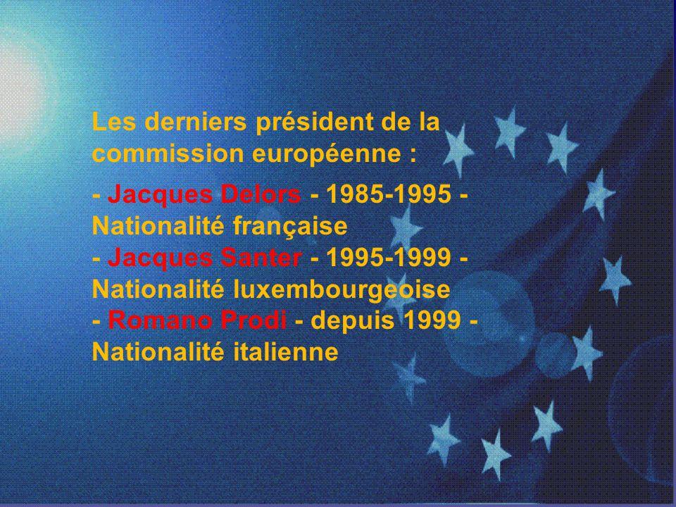 Les derniers président de la commission européenne :