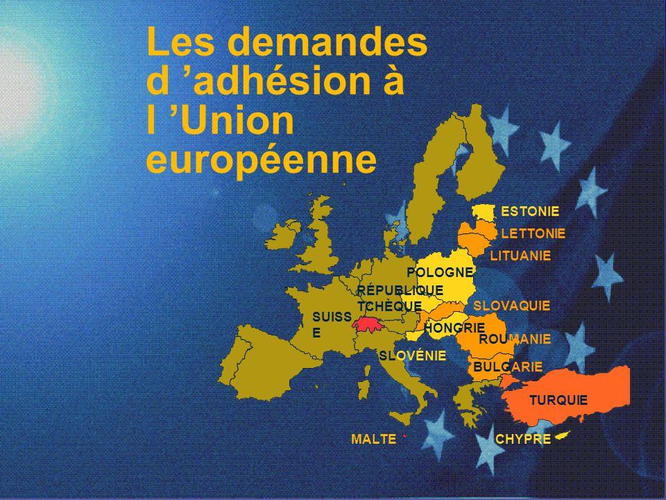 Les demandes d 'adhésion à l 'Union européenne