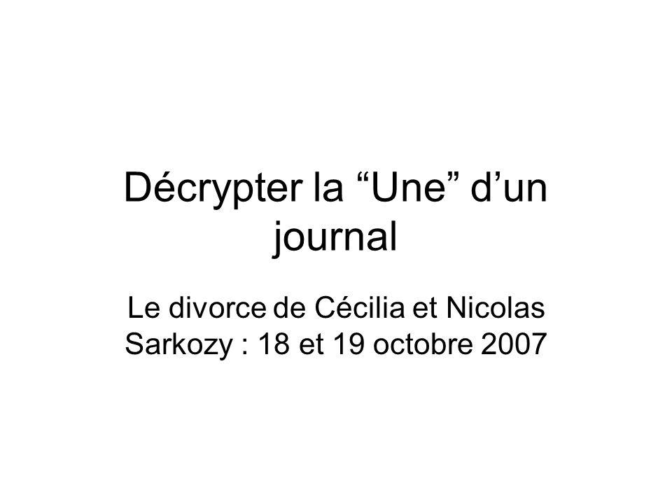 Décrypter la Une d'un journal