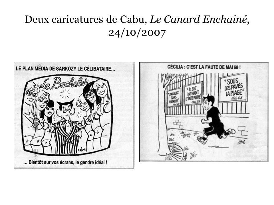 Deux caricatures de Cabu, Le Canard Enchainé, 24/10/2007