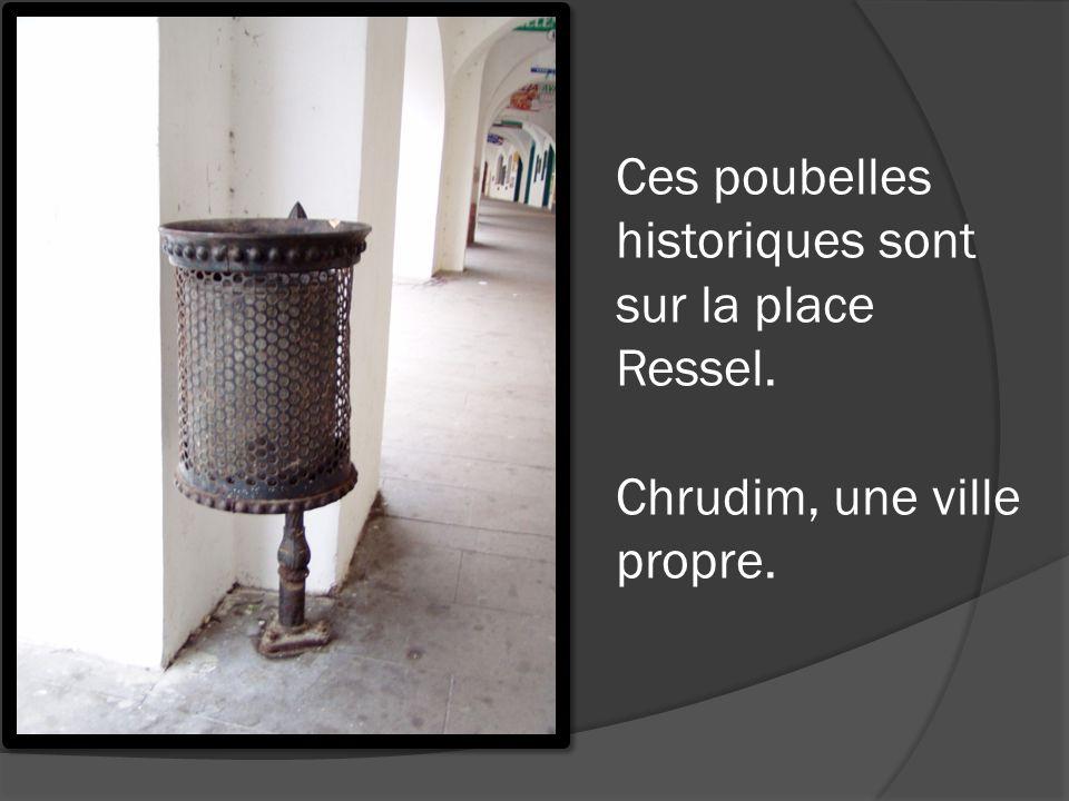 Ces poubelles historiques sont sur la place Ressel