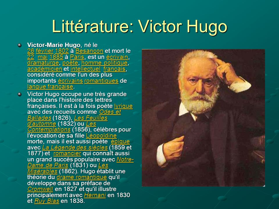 Littérature: Victor Hugo