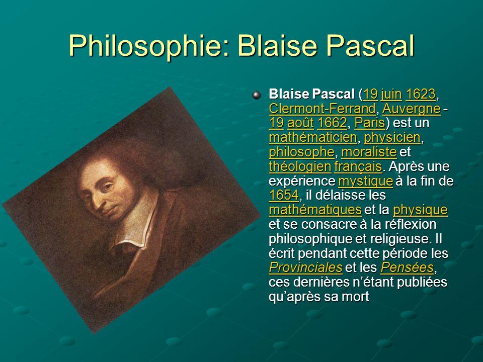 Philosophie: Blaise Pascal