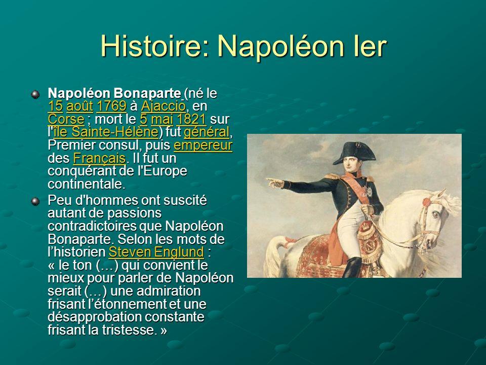 Histoire: Napoléon Ier