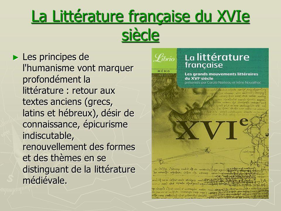 La Littérature française du XVIe siècle