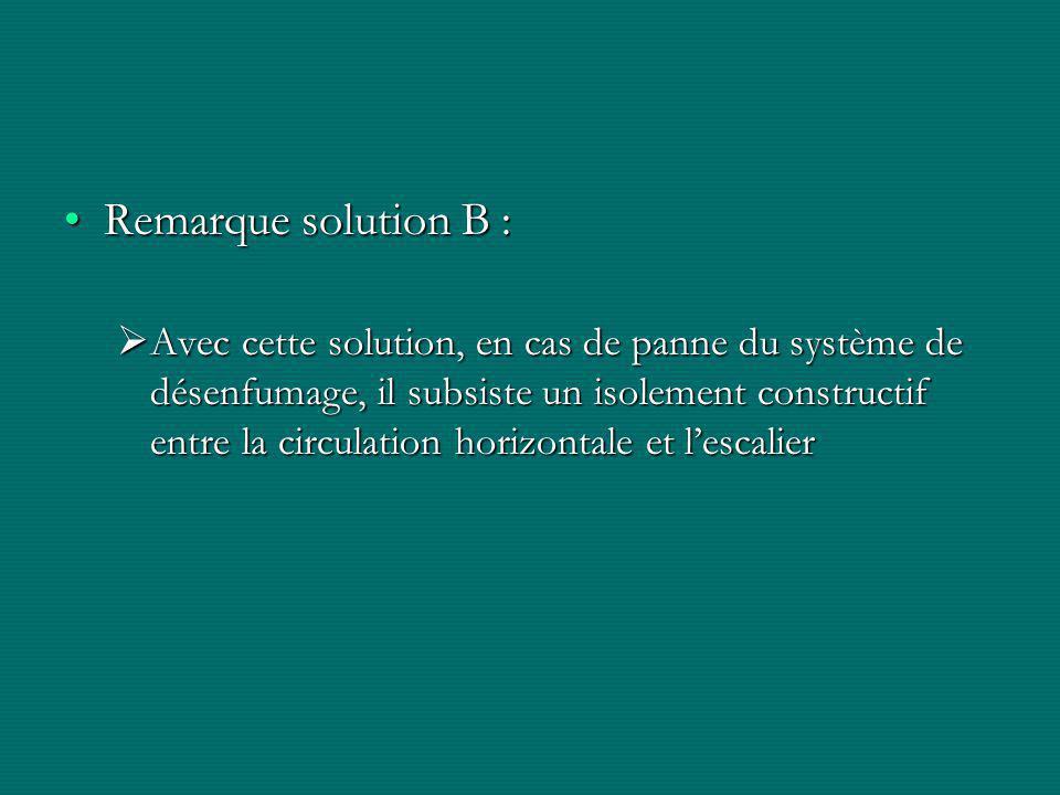 Remarque solution B :