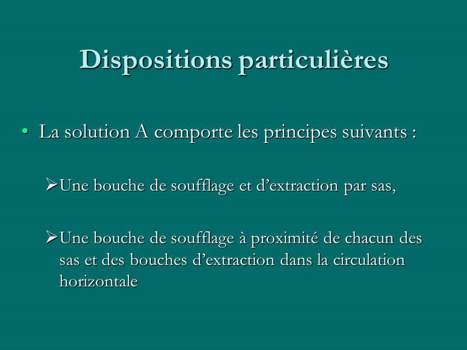 Dispositions particulières