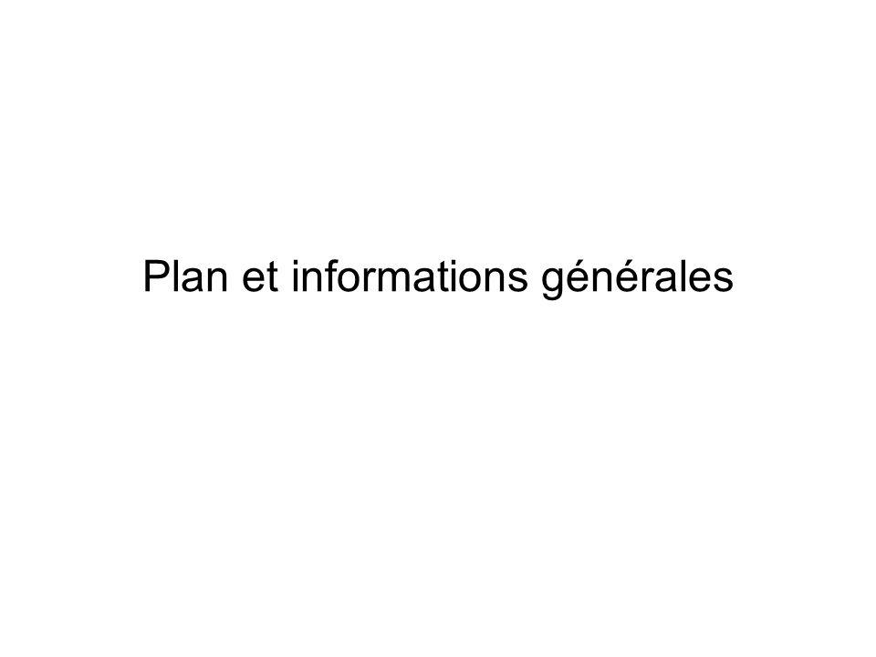 Plan et informations générales