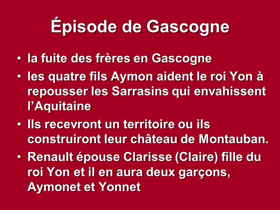 Épisode de Gascogne la fuite des frères en Gascogne