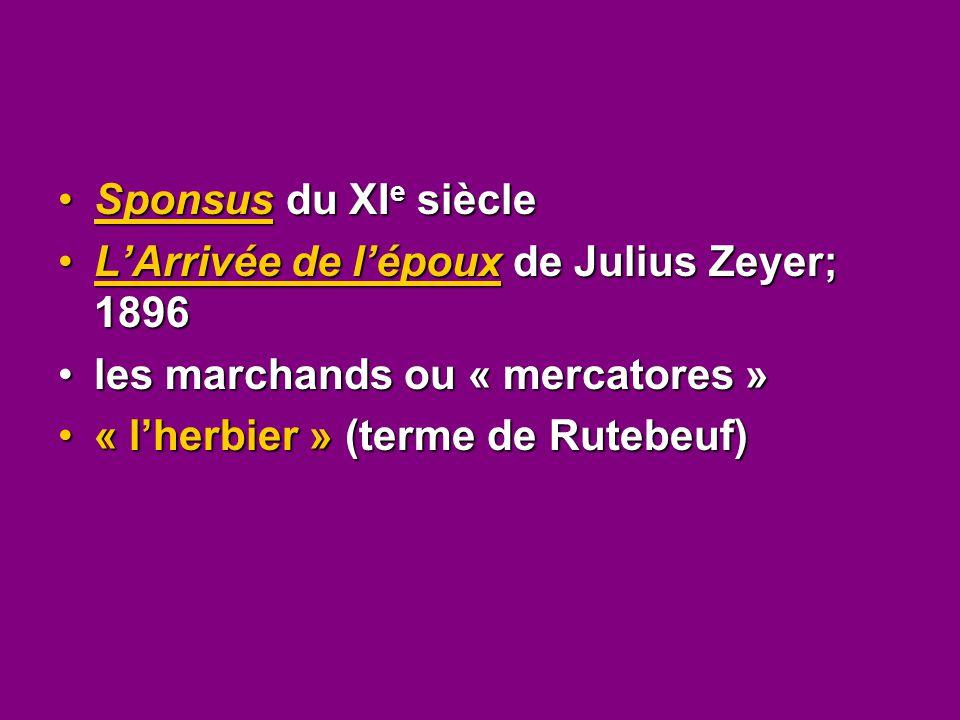 Sponsus du XIe siècle L'Arrivée de l'époux de Julius Zeyer; 1896.