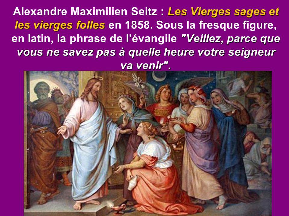 Alexandre Maximilien Seitz : Les Vierges sages et les vierges folles en 1858.