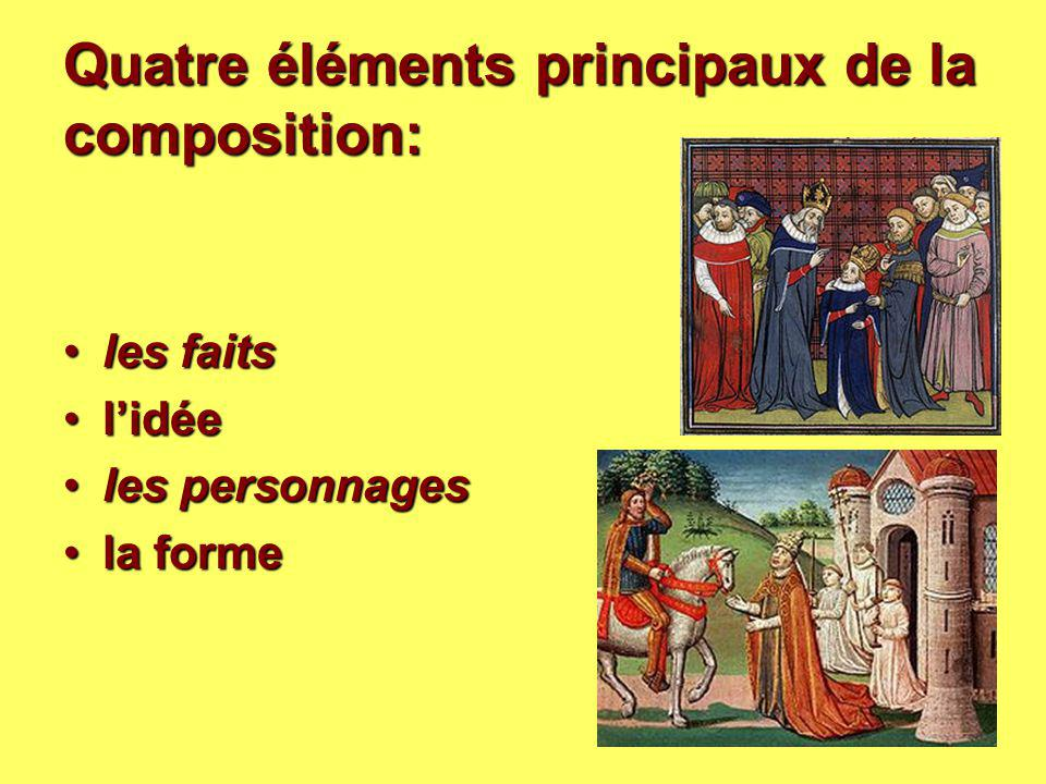 Quatre éléments principaux de la composition: