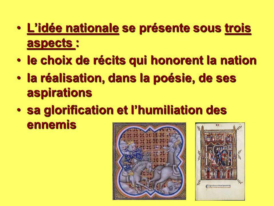 L'idée nationale se présente sous trois aspects :