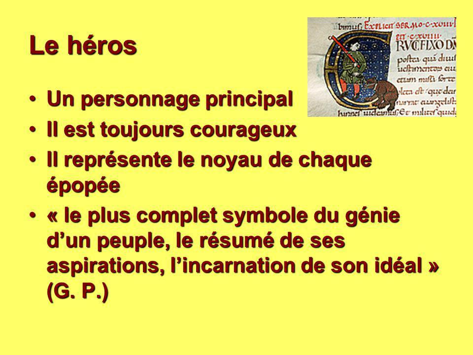 Le héros Un personnage principal Il est toujours courageux
