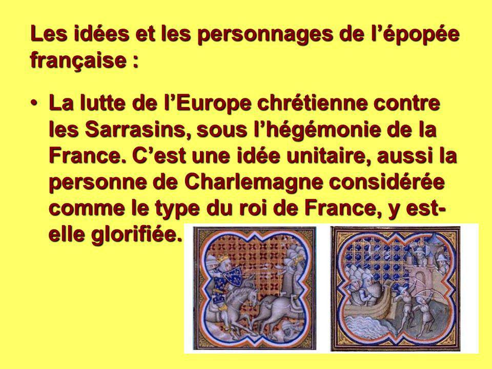 Les idées et les personnages de l'épopée française :