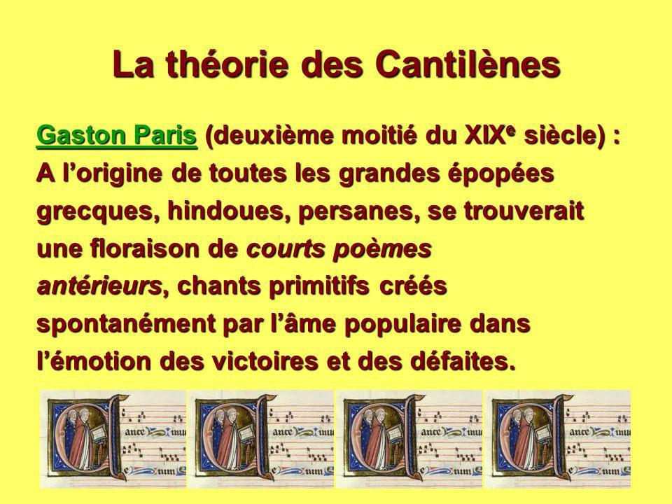 La théorie des Cantilènes