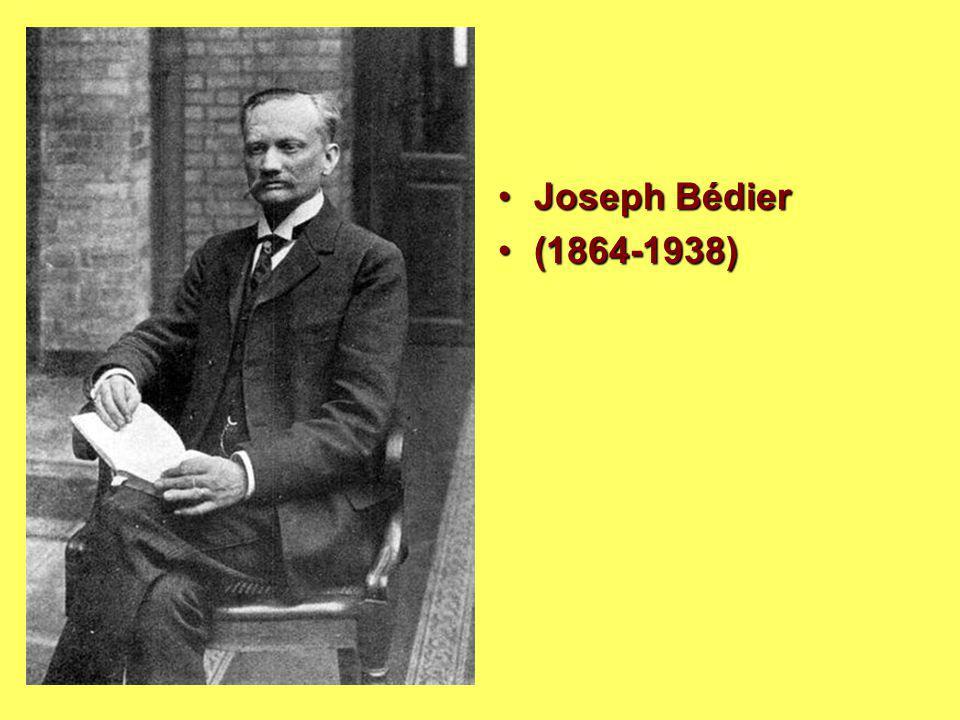 Joseph Bédier (1864-1938)